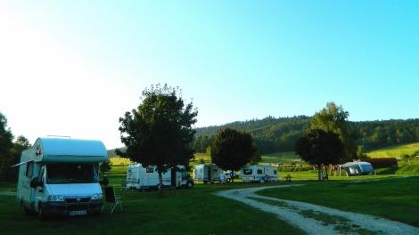 Camping at Chvalšiny