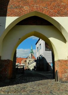Entering Toruń through the Monastery Gate