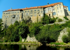 Fortified castle on the rocks