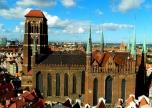Gdańsk spires and dock views