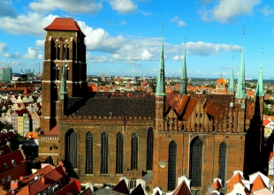 Gdańsk spires and dock views