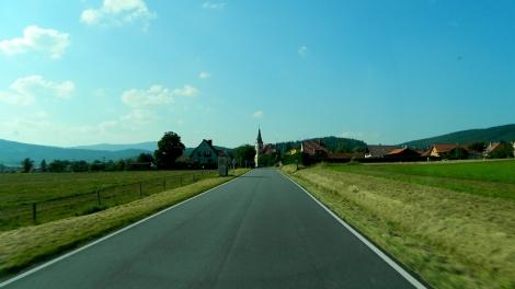 Chvalšiny, a hilltop farming village