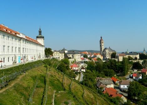 Jesuit College and vineyard views at Kutná Hora