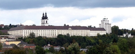 Kremsmünster Abbey from the south