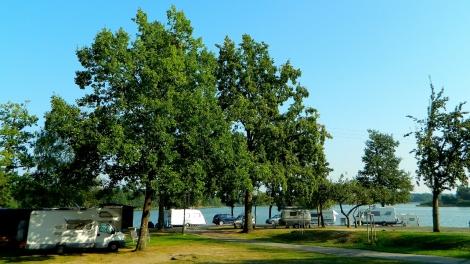 Lakeside camping at Třeboň