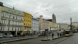 Linz Hauptplatz and Dreifaltigkeitssäule