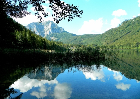 Mirror lake of Langbachsee