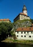 River Vlata rocks and chateau