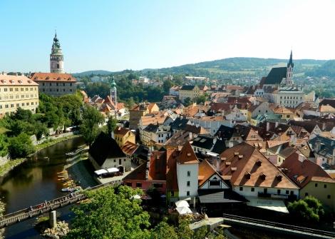 River Vltava through the old town