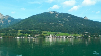 St Wolfgang across the water