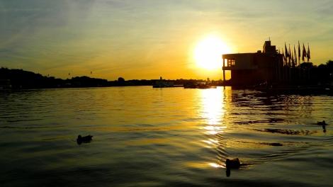 Sunset over Lake Malta