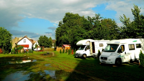 Sunshine after a rain storm at the family camp in Wrocław
