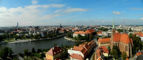 View of Wrocław from the Cathedral tower