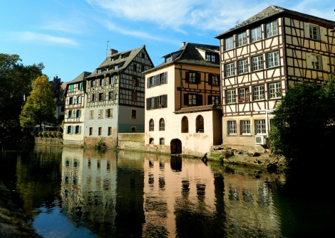 Canalside in Strasbourg