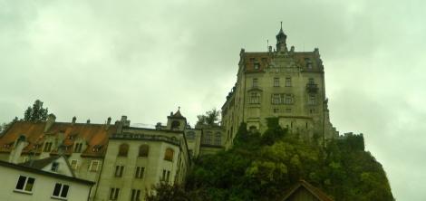 Sigmaringen Schloss from the train