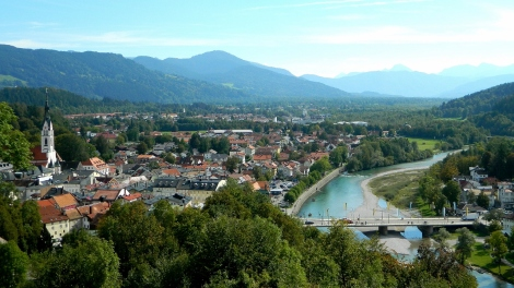 Tölz on Isar - a view from Kalvarienberg