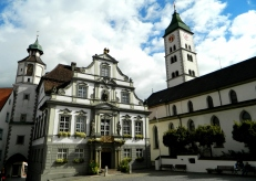 Wangen town square and Rathaus