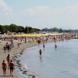 A busier beach than last time