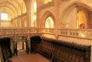 Above the choir stalls