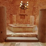 Baptistry with Roman columns