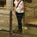 Gazing at 4th century mosaic floor