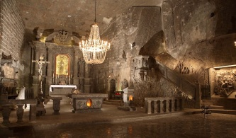 An underground salty chapel 110m below