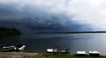 Another storm rolling in at Orava Lake