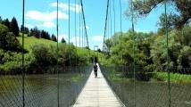 Crossing the Orava into town