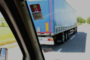 Overtaken by another lorry