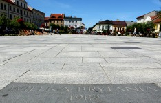 Pilgrimage paving stone