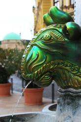 Zsolnay glazed fountain