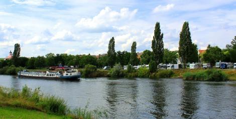 A riverside setting