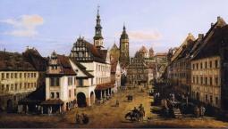 "Bellotto's ""Marketplace at Pirna"""