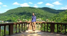 On the schloss terrace