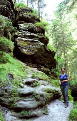 Descending through the gully