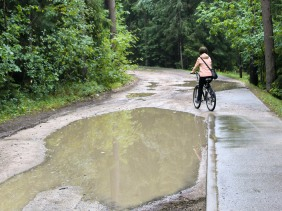 Avoiding the puddles