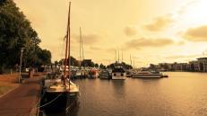 Emden at dusk