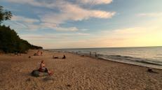 Karkle beach at sunset