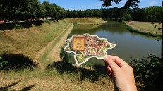 Navigating by an old beer mat
