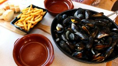 North Sea moules-frites