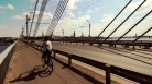 Cycling across the Daugava