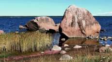 Large erratic boulders