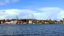 Motala view across Lake Vattern
