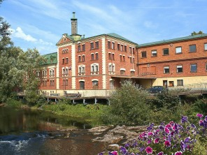 The old brewery sits on the river
