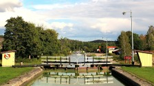 The first of six locks at Carsborg