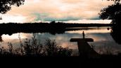 Staying alongside the lake