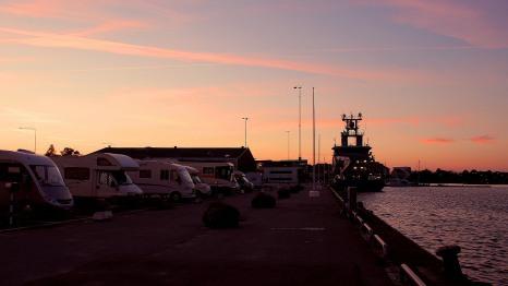 Karlskrona harbourside pitch