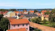 Lakeside houses at Vadstena