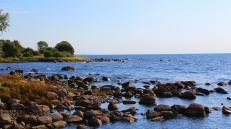Skåne rocky coastline at Skivarp