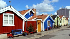 Smallest houses in town at Bjorkholmen